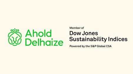 Ahold Delhaize elevates its position as a world leader in the Dow Jones Sustainability World Index