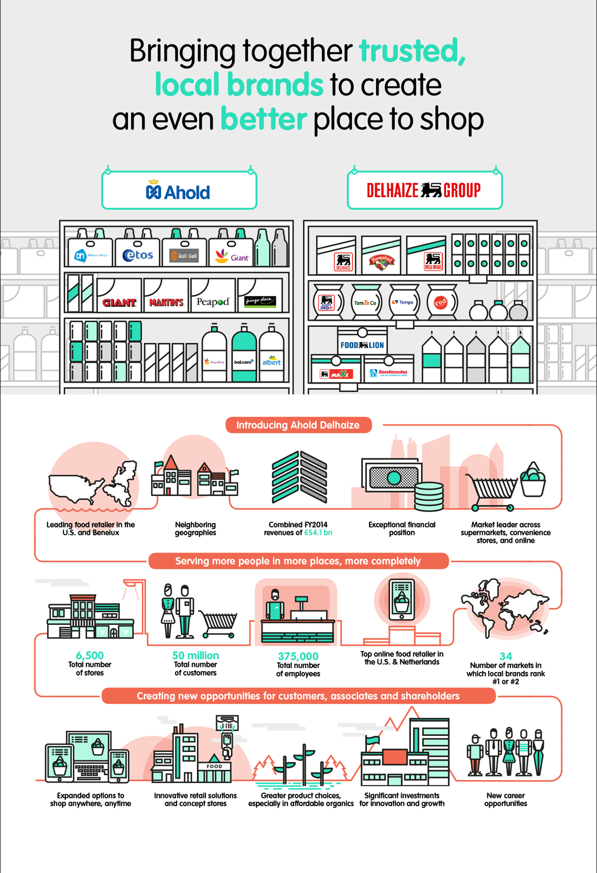 ahold delhaize infographic