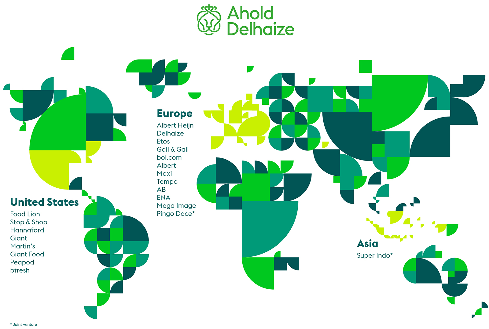 Where We Operate Ahold Delhaize - Map of us and europe