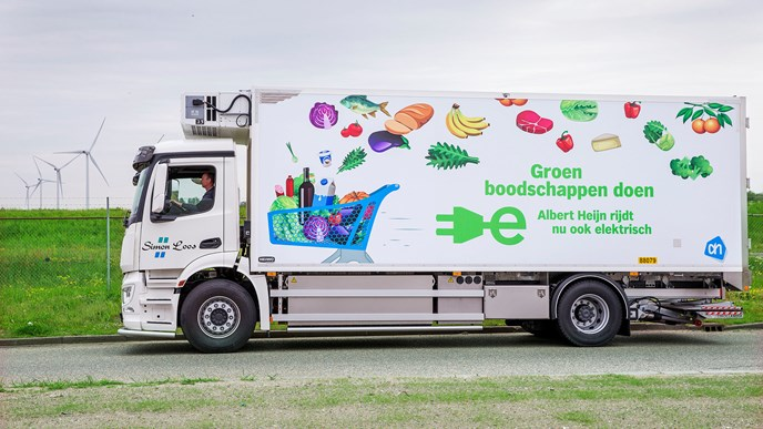 First fully electric trucks on the road for Albert Heijn