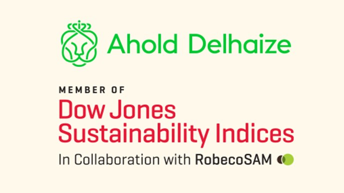 Ahold Delhaize ranks among leaders in Dow Jones Sustainability World Index
