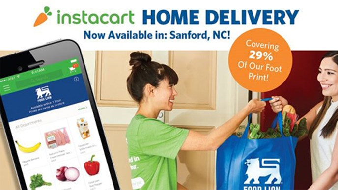 Food Lion now offering home delivery in nearly 30% of market
