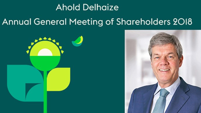 Ahold Delhaize CEO Dick Boer addresses Annual General Meeting 2018